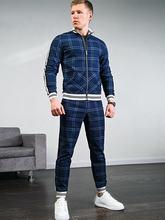 Мужской костюм из двух предметов с 3d принтом куртка на молнии