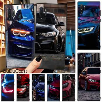 Jomy Blue Red Car for Bmw DIY Painted Bling Phone Case For Samsung Galaxy Note3 4 5 7 8 9 10 Pro M10 20 30 A3 2 310 6 7 image