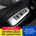 2015-2018 для Toyota highlander стеклоподъемник Переключатель отделка с яркой рамкой отделка Декоративная полоса Дверная панель украшение