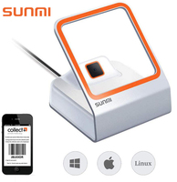SUNMI Auto QR Barcode Scanner 1D/2D Bar code Reader For Mobile Payment Bar Code Reader Support Windows Linux