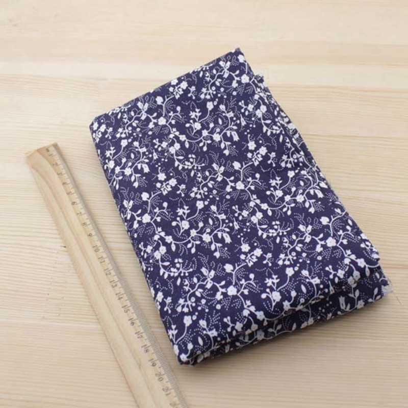네이비 블루 시리즈 플레인 코튼 세트, 수제 DIY 패치 워크 원단, 50cm x 50cm 7 개 세트