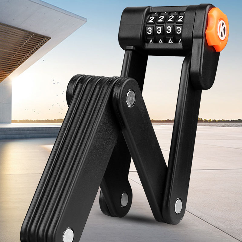 Bicycle lock tram anti-theft lock mountain bike portable folding lock electric password lock portable joint bicycle lock