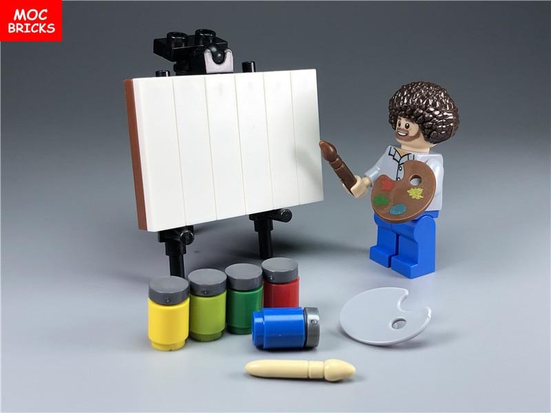 1 компл./лот MOC, детали для кирпичной плитки, фотография, Творческая фотография, художественная палитра, игрушки для творчества, забавные