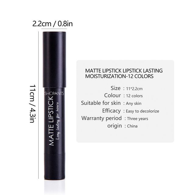 12 Colors Matte Lip Liner pen use with lipstick Long Lasting Pigments Waterproof no blooming beauty Makeup color optional 4