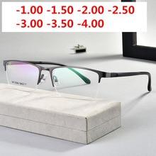 Ultralight TR90 Bitmiş Miyopi Gözlük Kadın Erkek Retro Oval Öğrenci Kısa görüşlü Gözlük Diyopt 0.5 1.0  1.5 2.0 To 4.0NX