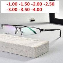 Ultralight TR90 wykończone okulary dla osób z krótkowzrocznością kobiety mężczyźni Retro owalne Student krótkowzroczne okulary dioptrii 0.5 1.0 1.5  2.0 do 4.0NX