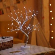 Tree-Lamp Night-Light Bedside Led-Pearl Birthday-Gift Creative