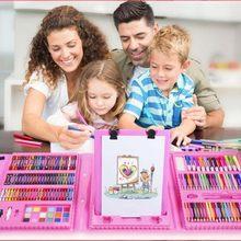 Children Kids Colored Pencil Artist Kit Set Painting Crayon Marker Pen Brush Drawing Tools Set Kindergarten Supplies Kids Gift