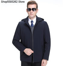 Down Jacket Male 2020 Men Winter Coat Middle Age Short Money Leisure Lian Cap Thicken Down Clothing Dad Pack(China)