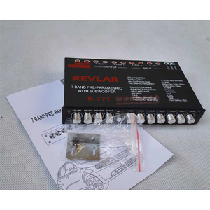 Image 5 - 7 segment equalizer Car Audio EQ tuning crossover Amplifier Car Equalizer  DC 12V D3 008