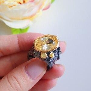 Image 5 - DreamCarnival1989 מאוד גדול מסנוור זהב צבע Zirconia חתונה טבעת נשים סדיר לחתוך להקת גותי שיק היכרויות תכשיטי WA11756