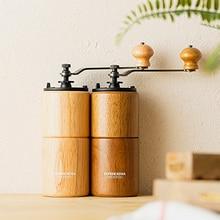 CAFEDE KONA molinillo de Café Manual con ajuste ajustable, molinillo cónico para café francés, Mokapot