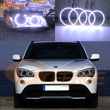 Excellent Ultra bright COB led angel eyes halo rings For BMW X1 E84 2009 2010 2011 2012 2013 2014 2015 headlight