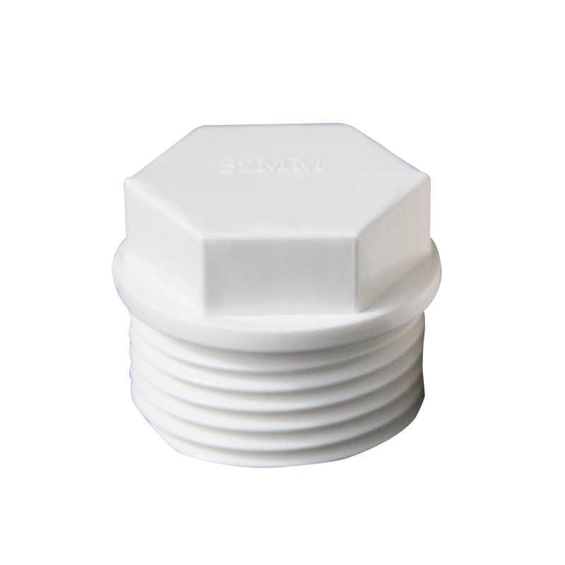 """1/2 """"3/4"""" 1 """"bsp 수나사 엔드 캡 플러그 흰색 pvc 튜브 조인트 파이프 피팅 커플러 어댑터 워터 커넥터"""
