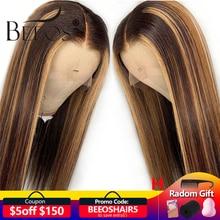 13*6 глубокая часть фронта шнурка человеческих волос парик прямой Выделите цвет волос предварительно выщипанные волосы линия отбеленные узлы бразильские волосы remy