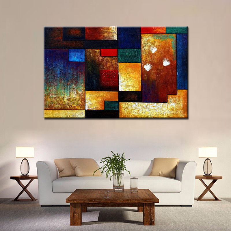 100 Handpainted Modern Abstract Oil Painting On Canvas Handmade Art Picture Decor Modular Wall Art For Home Room in Painting Calligraphy from Home Garden
