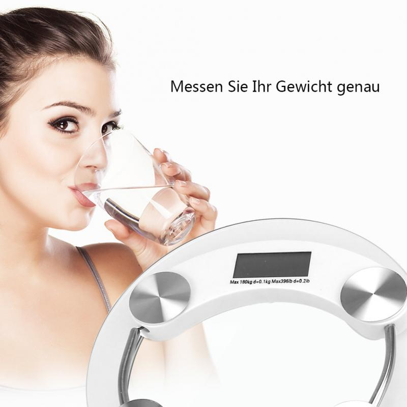 Toughened glass Precision Electronic Digital Scale Glass Electronic body Weight bathroom scales Balance weighing scale