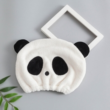 Cute Panda Head Wrap Hat Baby Shower Caps For Children Strong Water Dry Hair Cap