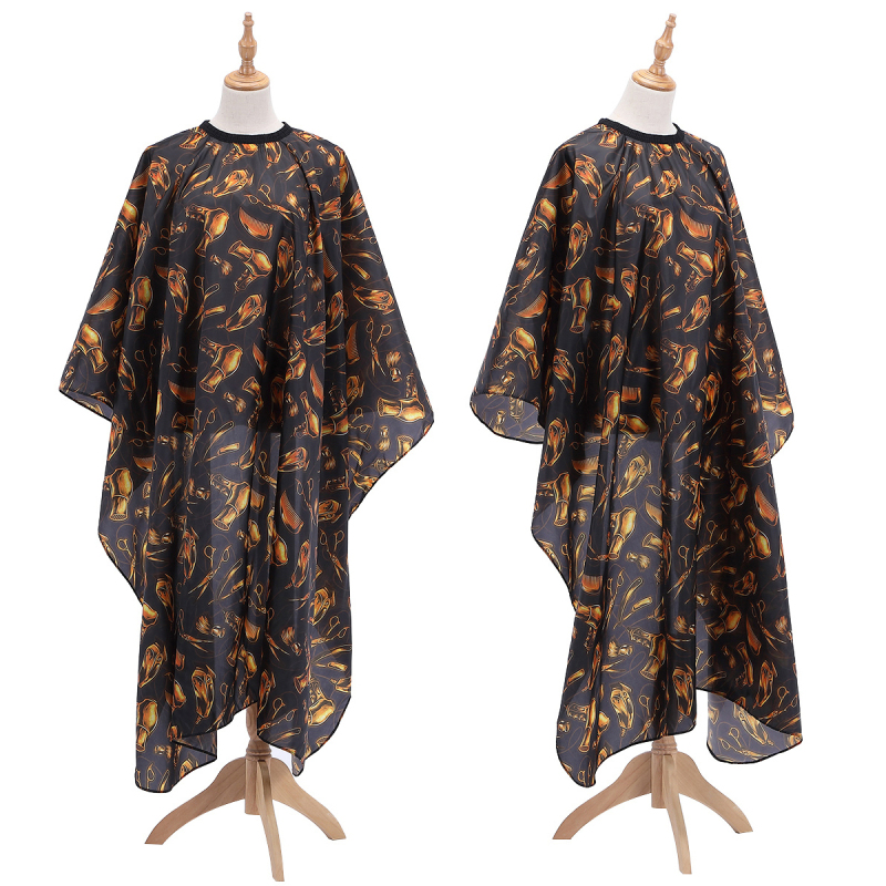 2019 New Hairdressing Cloth Golden Pattern Apron Polyester Haircut Cape Wrap Hair Styling Design Supplies Salon Barber Gown