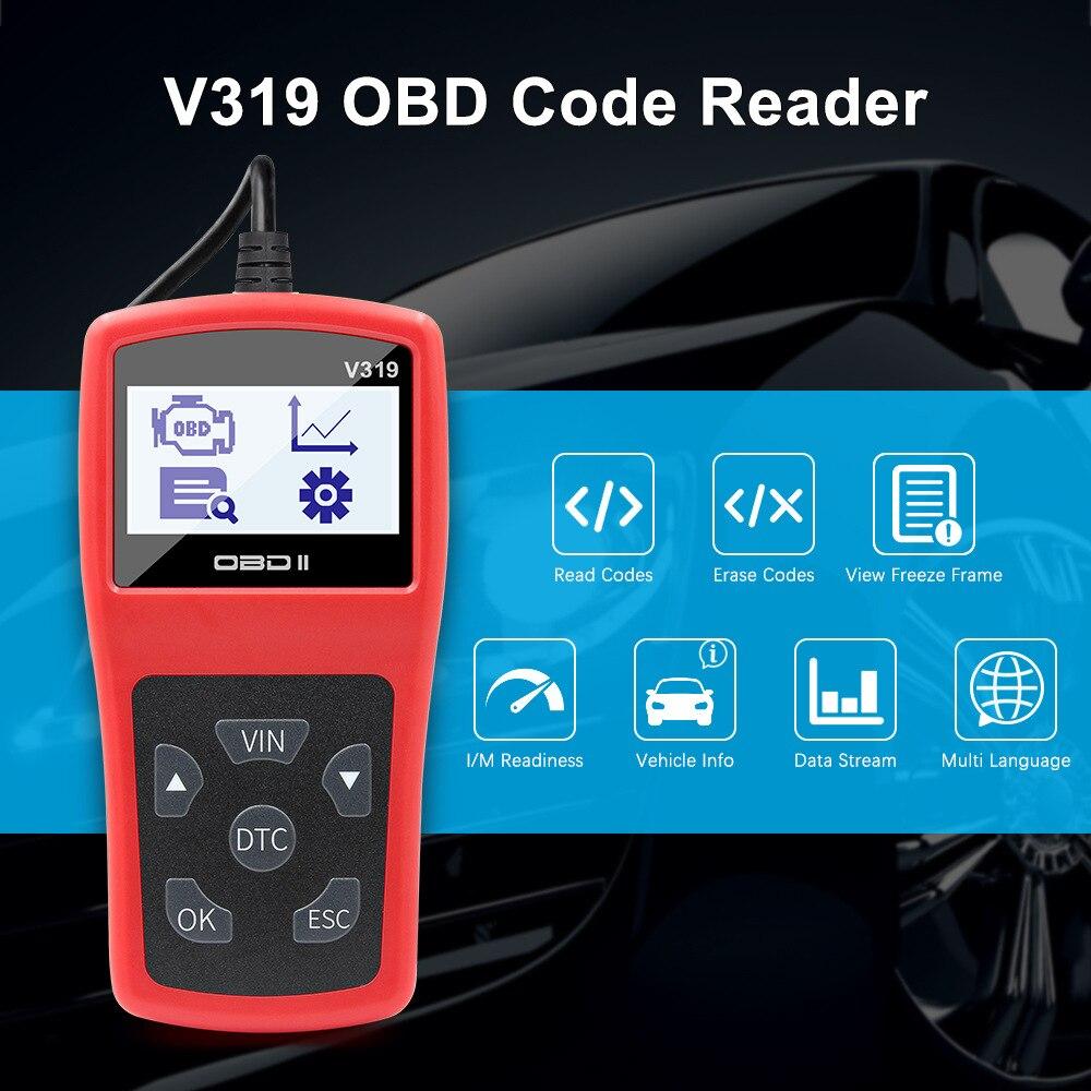 V319 OBD2 outil Scanner lecteur de Code   Outil de Diagnostic lecteurs de Code, OBDII EOBD lire propre défaut ELM327 plusieurs langues Lecteurs de Code et Outils de numérisation    - AliExpress