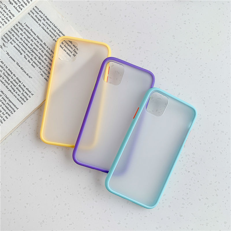 High Quality Mint Hybrid Simple Matte Bumper Phone Case For iPhone Mobiles 5