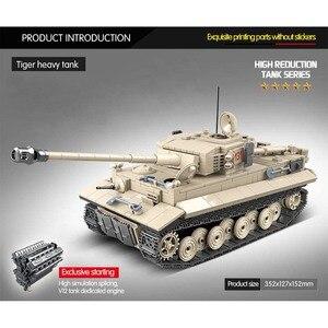 Image 2 - 1018 pièces militaire tigre 131 réservoir blocs de construction compatibles WW2 armes soldats armée briques ensemble enfants enfants jouets enfants cadeaux