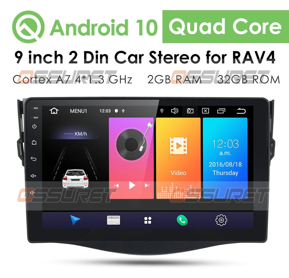 2.5D Screen car android gps navigation player For Toyota RAV4 Rav 4 2007 2008 2010 2011 car radio Multimedia stereo Navi WiFi 4G