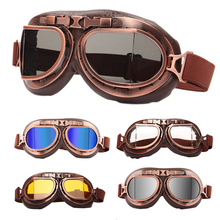 Gafas de Moto gafas Retro Vintage clásico Moto gafas para Harley Pilot Steampunk ATV bicicleta casco de cobre