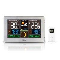 Color Screen Weather Clock Temperature And Humidity Meter Led Screen Alarm Clock Usb Charging Clock Calendar Moon Phase