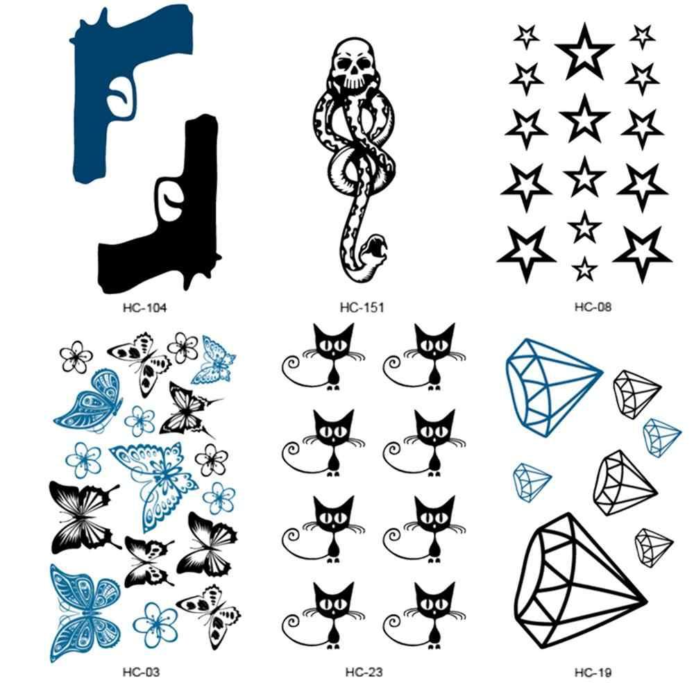 Su geçirmez geçici dövme çıkartmalar cesaret korku kalp zihin harfleri tasarım su transferi sahte dövme kadın ve erkekler için