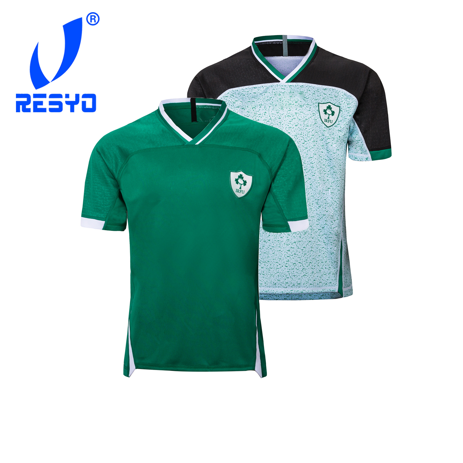 Resyo para 2019 irlanda rwc masculino camisa de rugby esporte S-5XL