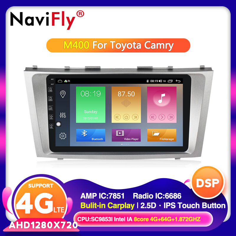 Android 10.0 For Toyota Camry 7 40 50 2006-2011 Octa Core Car Multimedia Video Player GPS Radio RDS cassette