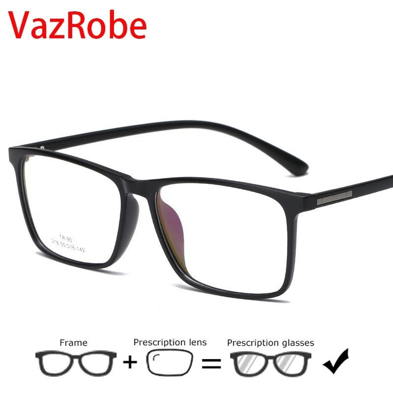 Vazrobe Eyeglasses Frame Men Women TR90 Glasses Man 10g myopia Spectacles Prescription Oversize progressive photochromic eyewear