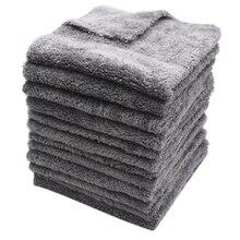 12 個 350GSM 超厚 Edgeless マイクロファイバータオルカークリーニング自動洗車ワックスがけ乾燥研磨ディテールタオル