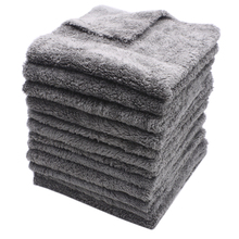 12PCS 350GSM Ultra Thick Edgeless Microfiber Towels Car Cleaning Cloth Auto Wash Waxing Drying Polishing Detailing Towel