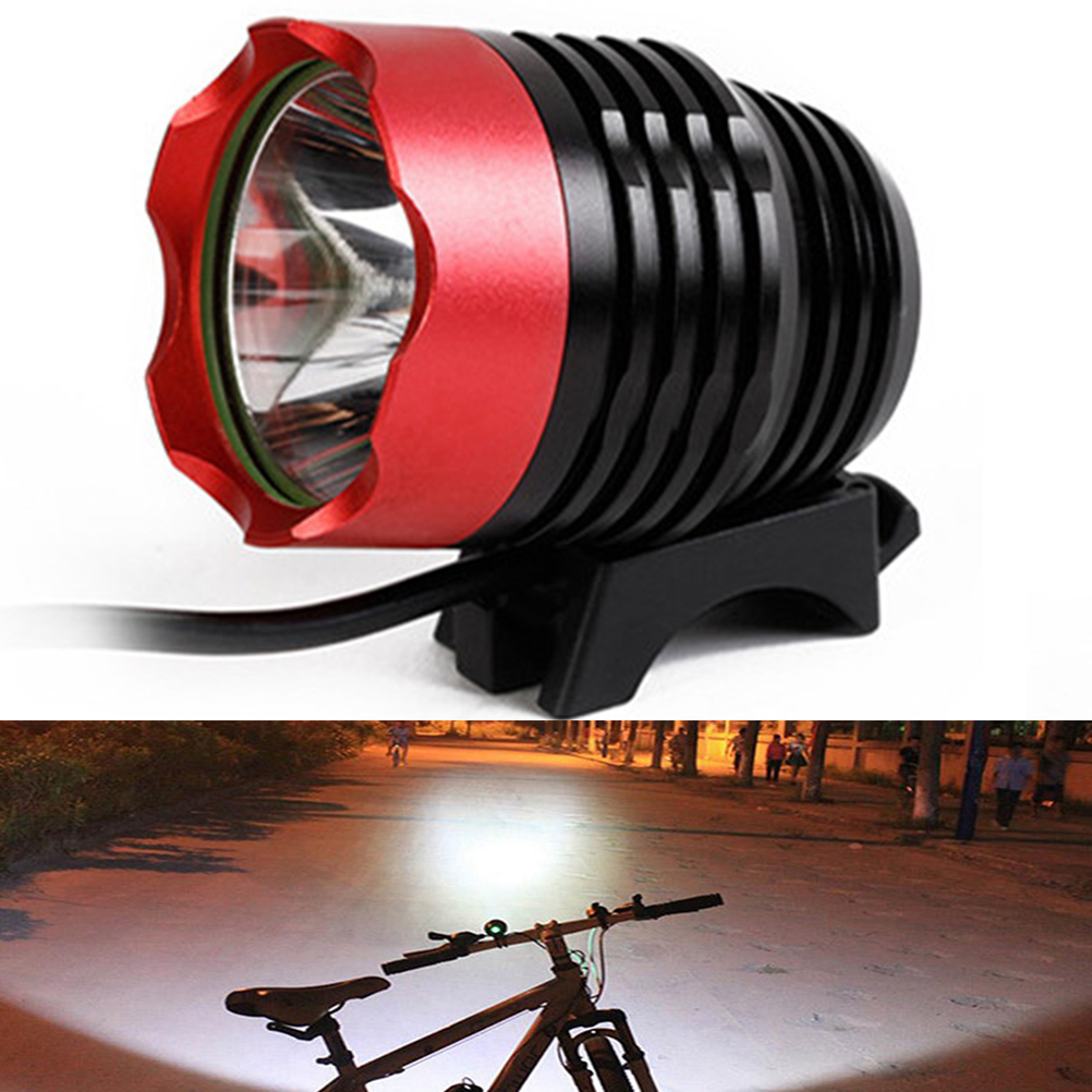 USB Bike Head Light Bicycle Headlamp XML T6 LED Waterproof Front Bicycle Light Night Cycling Safety Light (No Battery )