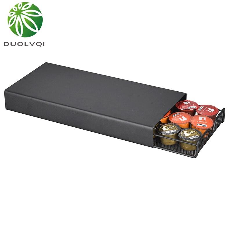 Support pratique de tiroirs de support de Capsule de café d'organisateur de Capsule de café pour des étagères de Capsules de café de Dolce Gusto/Lavazza/Nespresso