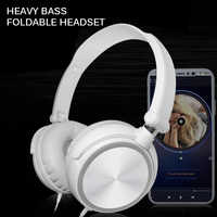 Wired Headset Headphones With Microphone Over 3.5mm Round Interface Ear Headsets Bass HiFi Sound Music Stereo Earphone