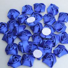 20pieces/lot Diameter 3.5cm Royal Blue Rose Artificial Flower Wedding Fake Flowers Handmade DIY Bouquet Accessories