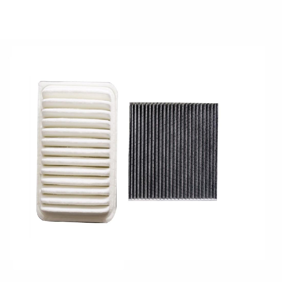 Filtro de cabine de filtro de ar 2 pces para toyota highlande 2.7 3.5 modelo 2009-2015 carro accessoris filtro 17801-20040