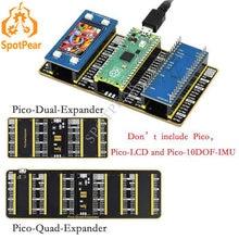 Raspberry pi pico-duplo/quad-expansor dois conjuntos de cabeçalhos masculinos