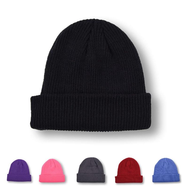 Beanie Hat Korean-Version Autumn Winter Unisex Fashion Keep-Warm WZCX Solid Adult Simple