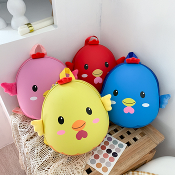 New Kindergarten Children Boys and Girls 3-6 Years Old Cute Cartoon Shoulder Baby Backpack Super Light Small School Bag