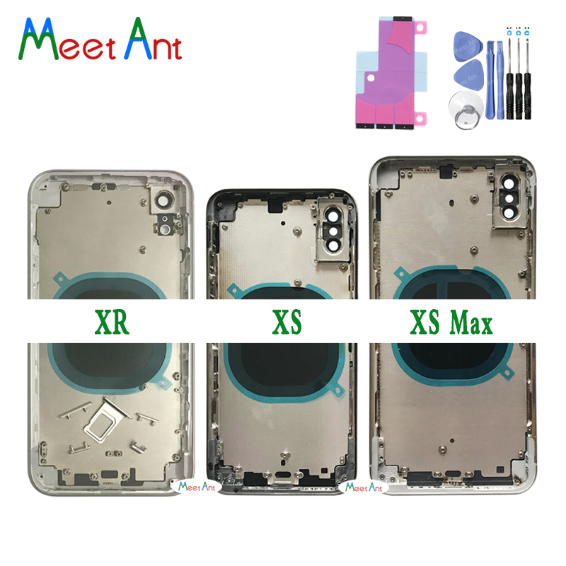AAA High Quality Back Cover For Iphone X / XS / XS Max / XR / 11 Pro Max Housing Cover Rear Door Chassis Middle Frame + Tool