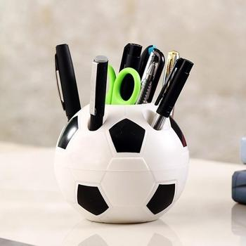 Creative Makeup Brush Holder Pen Pencil Tidy Stationery Desk Football Container фото