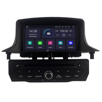 Android 10 Car Stereo DVD Player GPS Glonass Navigation for Renault Megane 3 Fluence 4GB RAM Video Multimedia Radio headunit image