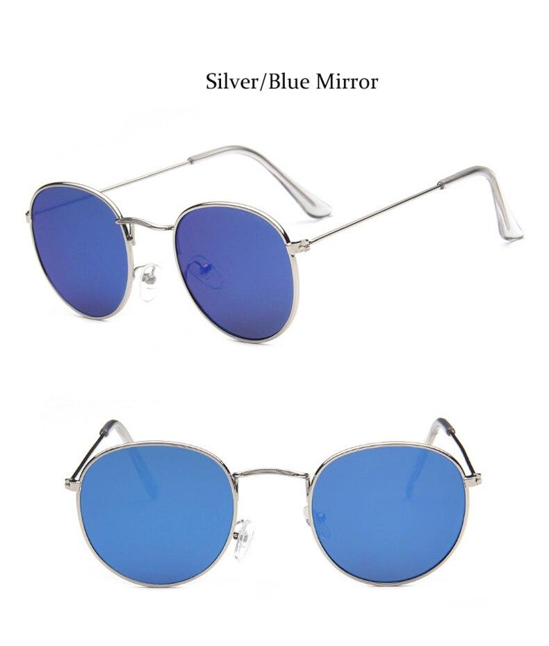 Luxo vintage redondo óculos de sol feminino