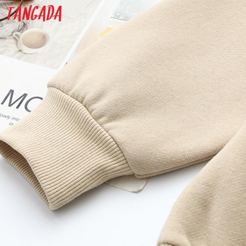 H1ab098e031014729ab64500c8594bf9aC Tangada 2020 Autumn Winter Women warm yellow fleece 100% cotton suit 2 pieces sets o neck hoodies sweatshirt pants suits 6L24
