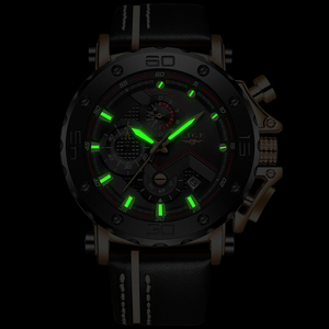 Image 4 - Relogio Masculino 2020 New LIGE Sport Chronograph Mens Watches Top Brand Casual Leather Waterproof Date Quartz Watch Man Clock