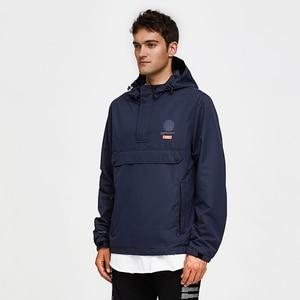 Image 2 - 虎力男性ジャケット春カジュアルジャケットパーカーフード付きジャケットサイドポケットコートヨーロッパサイズ